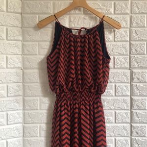 Enfocus Studio rust navy chevron maxi dress
